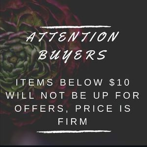 Other - ATTENTION BUYERS!!!